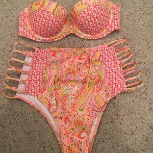 Victoria's Secret 32b medium bikini orange